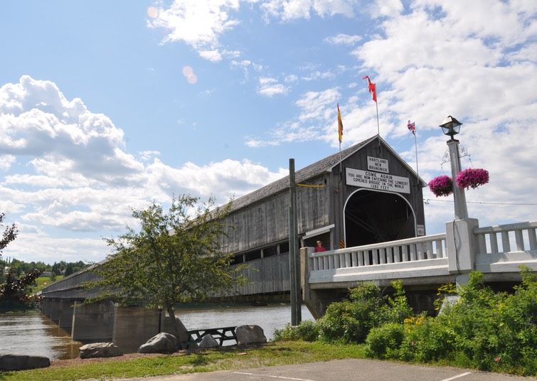 14-Covered bridge at Hartland, New Brunswick