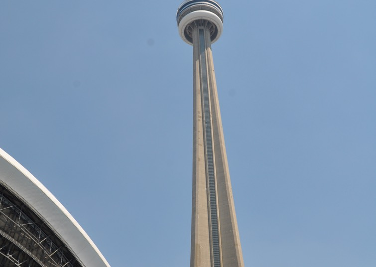 9-CN Tower over the Skydome (Rogers Centre), Toronto